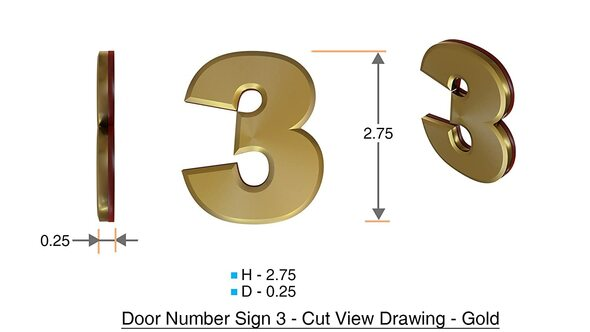 Apartment Number /Mailbox Number , Door Number . Number 3 ,3D,