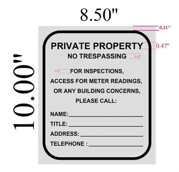BUILDING ACCESS CONTACT  Signage