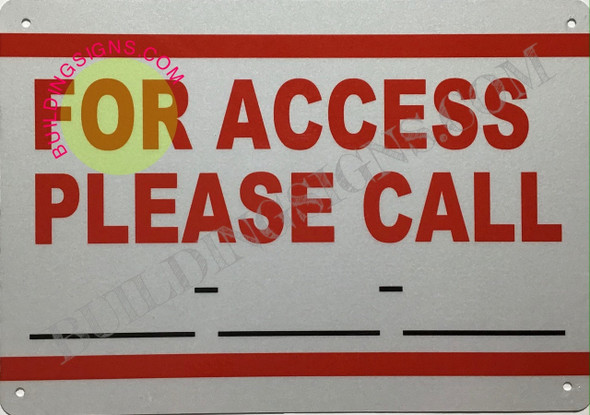 FOR ACCESS PLEASE