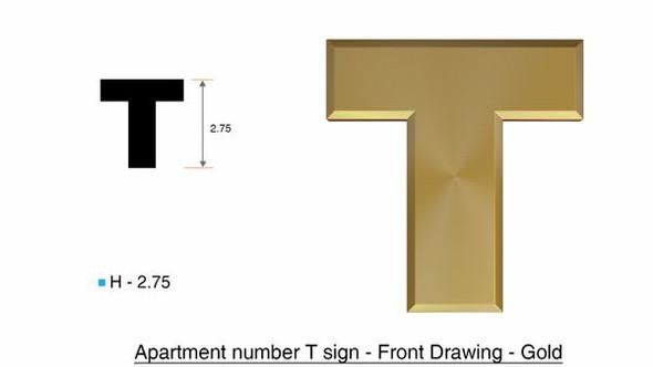 1 PCS - Apartment Number /Mailbox Number , Door Number . Letter T
