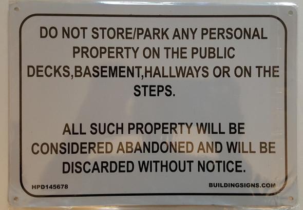 No Storage in  Signage