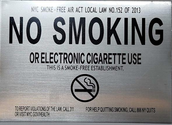 No Smoking or Electronic Cigarette Use  Signage