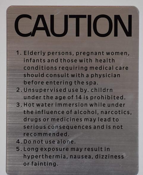"SPA Rules -""Caution SPA""  Signage"
