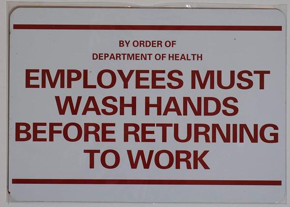 Employee Must WASH Hand  -