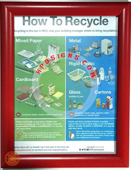 How to recycle frame - NYC frame   Sign