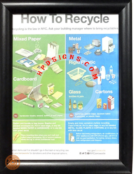 How to recycle frame - NYC frame   Signage