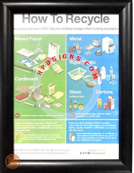 How to recycle frame - NYC frame