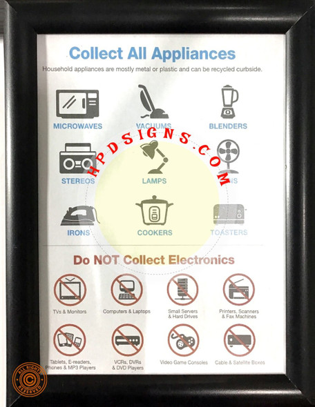 NYC electronic recycle sign- NYC frame  frame 8
