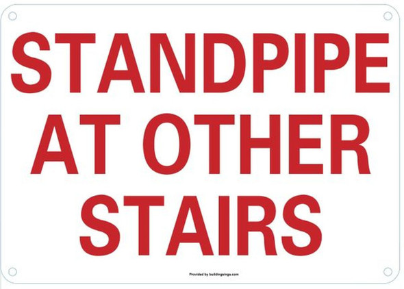 Standpipe at Other Stairs  Signage ,
