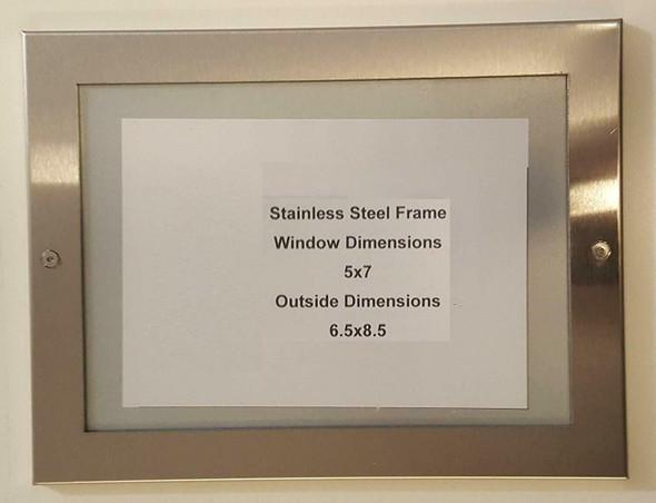 buildingsigns.com Elevator Permit Frame