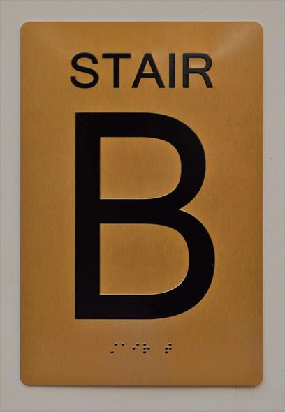 Stairs b  Signage-  , /Black,Size 6X9