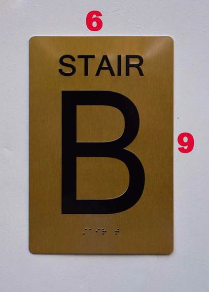 Stairs -  , /Black,Size 6X9