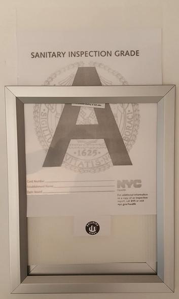 NYC Sanitary Inspection Grade Frame