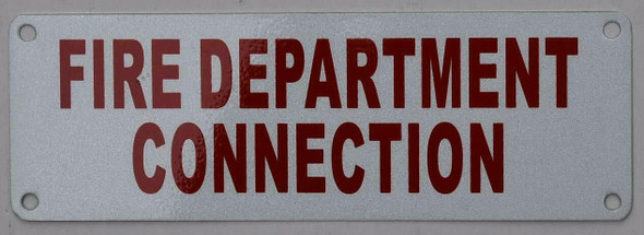 FIRE Department Connection  Signage