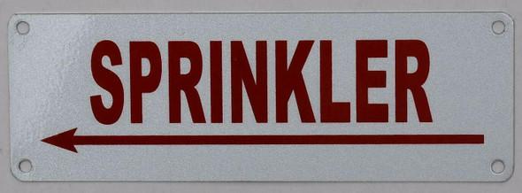 Sprinkler Left Arrow  Signage ,