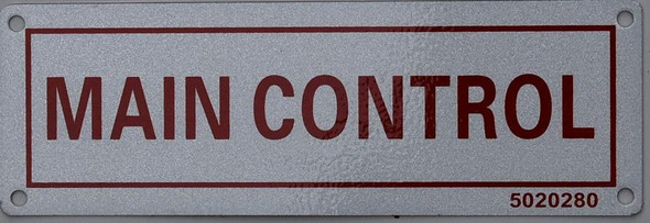 Main Control  Signage