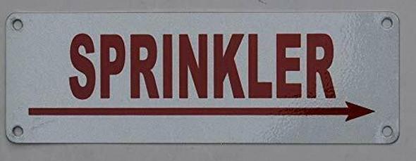 Sprinkler Right Arrow  Signage ,