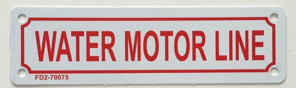 Water Motor LINE  Signage ,