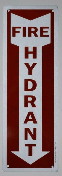 Fire Hydrant Arrow Down  Signage  Signage