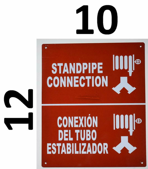 Standpipe Connection with Symbol Bilingual