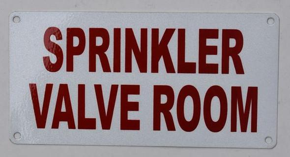 Sprinkler Valve Room  Signage