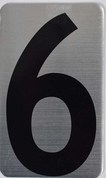 House Number  Signage/Apartment Number  Signage- SIX 6