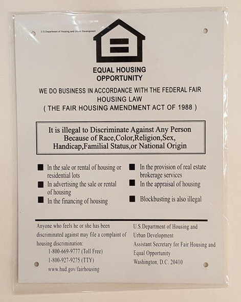 Equal Housing Opportunity Sign      Signage