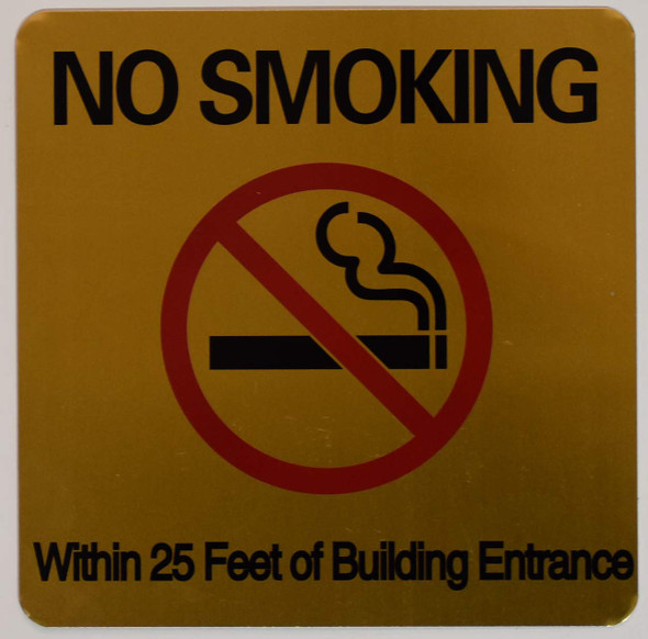 NO Smoking 25 FEET of Building