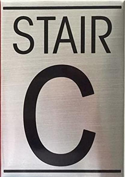 STAIR C  Signage-