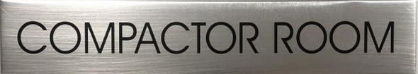 COMPACTOR ROOM  Signage - Delicato line