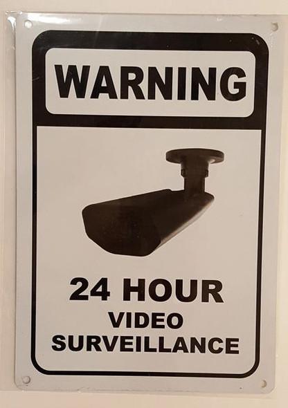 WARNING 24 HOUR VIDEO SURVEILLANCE sinage