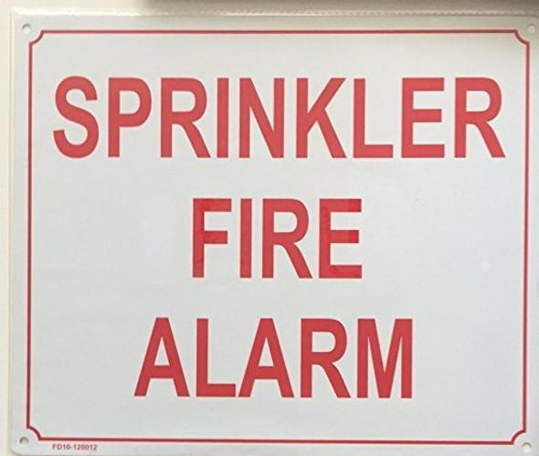 SPRINKLER FIRE ALARM  Signage