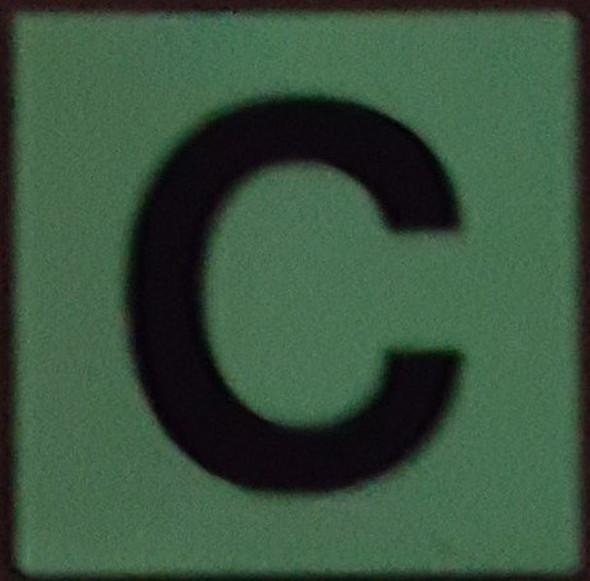 PHOTOLUMINESCENT DOOR IDENTIFICATION NUMBER C  HEAVY DUTY / GLOW IN THE DARK
