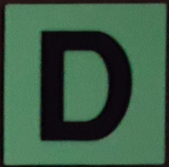 PHOTOLUMINESCENT DOOR IDENTIFICATION NUMBER D  HEAVY DUTY / GLOW IN THE DARK