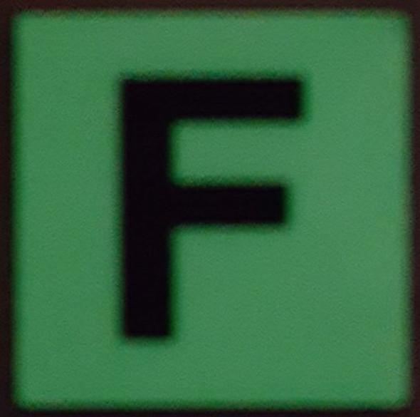 PHOTOLUMINESCENT DOOR IDENTIFICATION NUMBER F  HEAVY DUTY / GLOW IN THE DARK