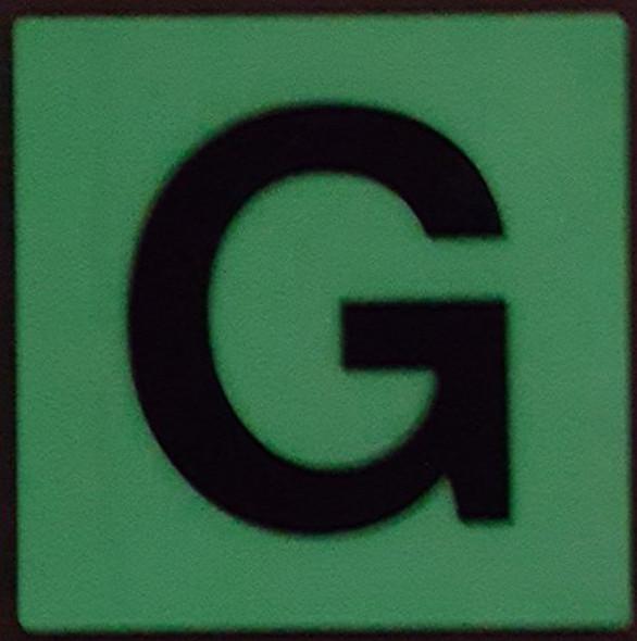PHOTOLUMINESCENT DOOR IDENTIFICATION NUMBER G  HEAVY DUTY / GLOW IN THE DARK