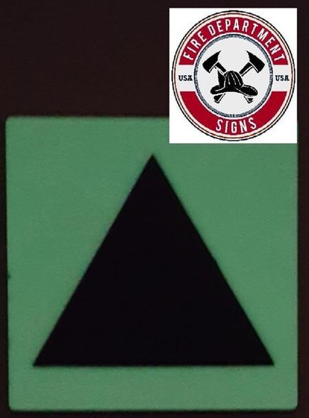 "PHOTOLUMINESCENT DOOR IDENTIFICATION LETTER ""Triangle""  HEAVY DUTY / GLOW IN THE DARK"