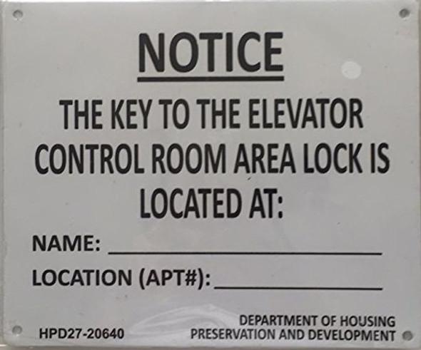 KEY TO ELEVATOR age