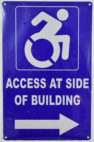 Access at Side of Building   Signage