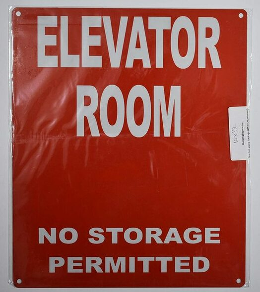 Elevator Room  Signage (, Reflective, minium 10x12)