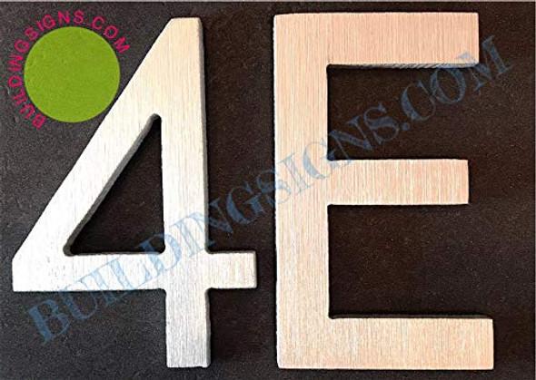 Apartment Number 4E  Signage