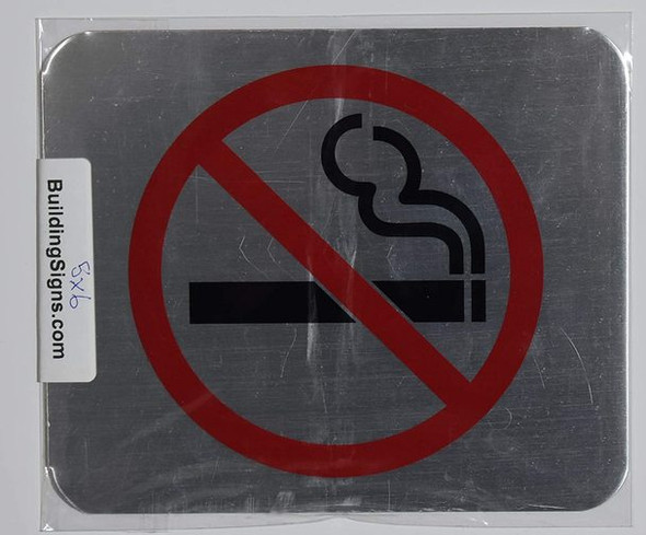 NO Smoking Symbol sinage - The Gallery LINE Brush Double Sided Tape