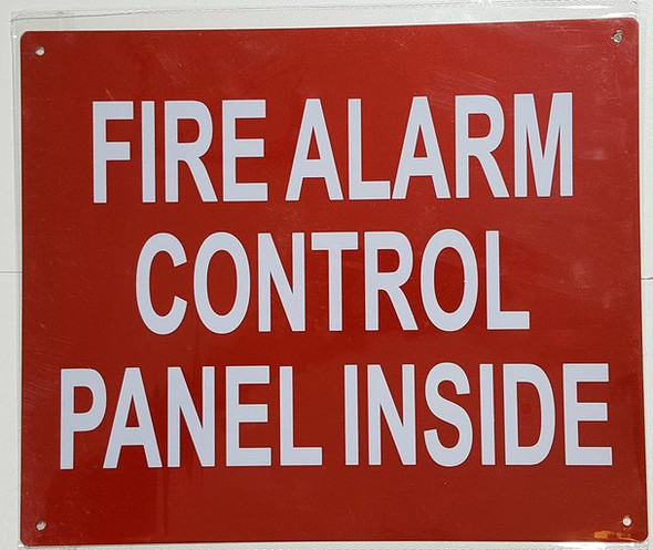 FIRE Alarm Control Panel located Inside  Signage