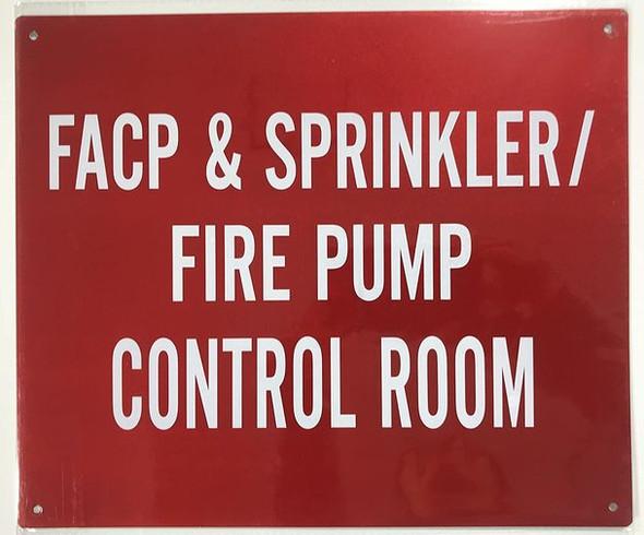 FACP & Sprinkler FIRE Pump Control Room  Signage