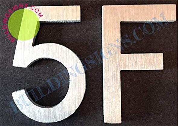 Apartment Number 5F  Signage