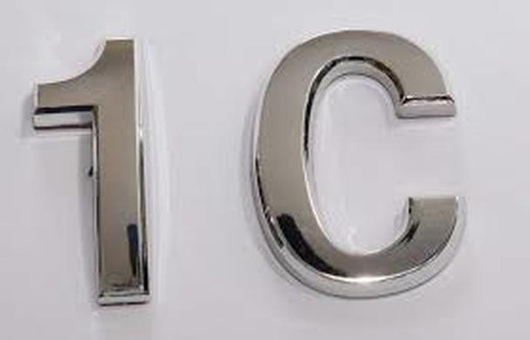 Apartment Number 1C  Signage/Mailbox Number  Signage, Door Number  Signage. - The Maple line