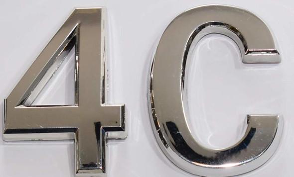 Apartment Number 4C  Signage/Mailbox Number  Signage, Door Number  Signage. - The Maple line