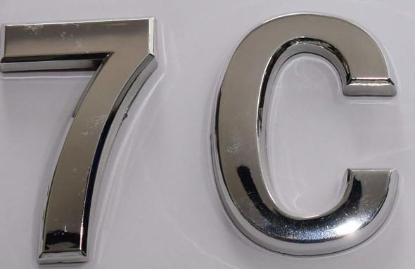 Apartment Number 7C  Signage/Mailbox Number  Signage, Door Number  Signage. - The Maple line