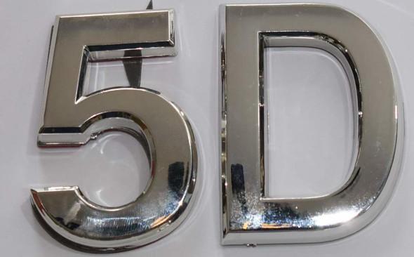 Apartment Number 5D  Signage/Mailbox Number  Signage, Door Number  Signage. - The Maple line