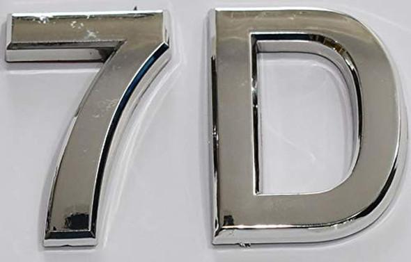 Apartment Number 7D  Signage/Mailbox Number  Signage, Door Number  Signage. - The Maple line